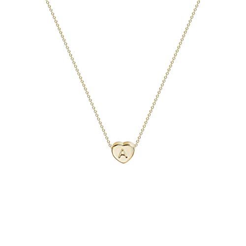 Women Necklace Jewelry Heart Initial Necklaces Personalized Letter Necklace Gift BiuBuy
