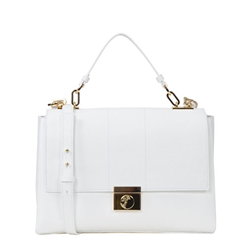 Versace-Collection-Lock-Flap-Top-Small-Leather-Shoulder-Bag