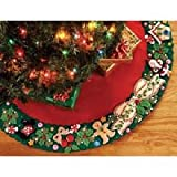 Bucilla Felt Applique Chtistmas Tree Skirt Kit, 43-Inch Round, 85466 Mary's Wreath