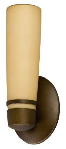 Aria Outdoor Sconce - Lighting by AFX ARW113RBEC Aria 13-Watt Outdoor Sconce, Oil-Rubbed Bronze with Tea Stained Glass