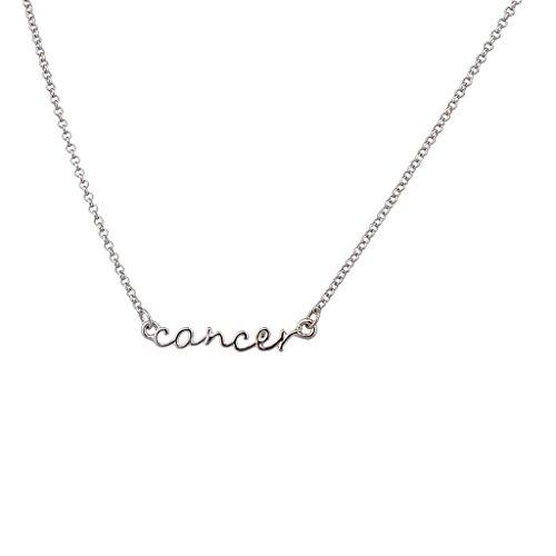 Cancer Zodiac Sign Horoscope (Lux Accessories Horoscope Zodiac Sign Cancer Silvertone Necklace)
