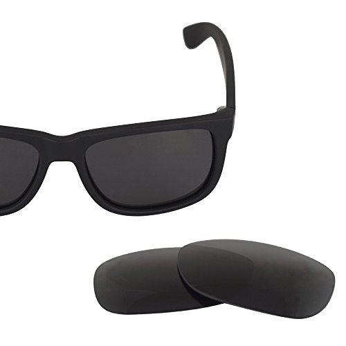 LenzFlip Polarized Replacement Lens for Ray-Ban Justin RB 4165 Sunglass Frame - Gray Black Polarized Lenses - Shop Raybans