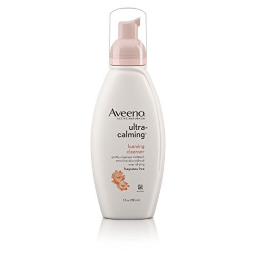 Foaming  Cleanser For Sensitive Skin, 6 Fl. Oz (Aveeno Ultracalming Foaming Cleanser)