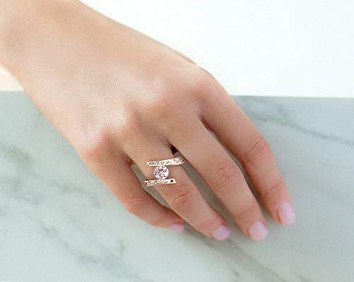 (Tomikko Round Cut White Sapphire 925 Silver Ring Woman Fashion Anniversary Gift Sz5-10   Model RNG - 12956   10)