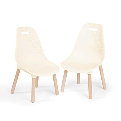 B. spaces by Battat - Kid Century Modern: Chair Set - Trendy Kid-Sized Furniture Set of Two Chairs in Ivory