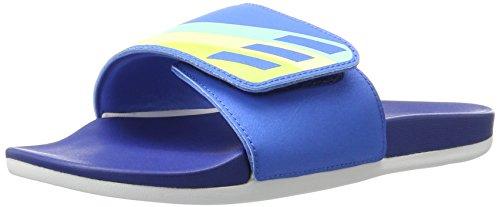 Adidas Performance Women's Adilette CF Ultra Adj W Athletic Sandal, Ray Blue/Ice Green/Ice Yellow Fabric, 8 M US