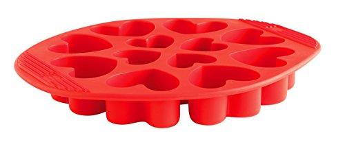 Mastrad f43110 molde de silicona para 12 magdalenas con forma de coraz n - Moldes silicona amazon ...