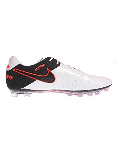 Nike Tiempo Legend Vi Ag-r, Botas de Fútbol para Hombre Blanco / Negro / Naranja (Pr Platinum / Blk-Blk-Hypr Orng-)