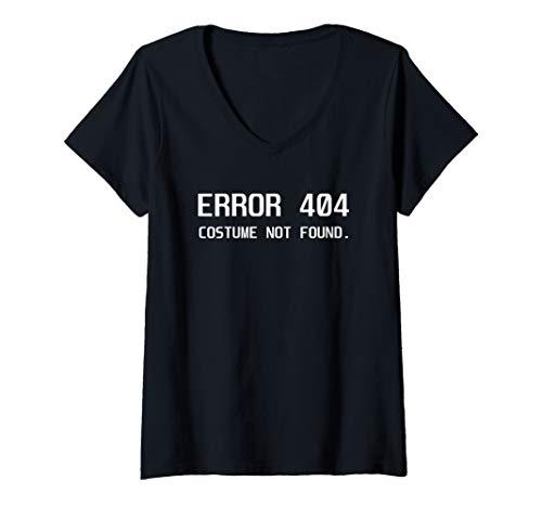 Womens Error 404 Costume not Found Lazy