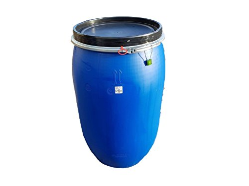 220 LITRE / 48 GALLON PLASTIC DRUM/BARREL/CONTAINER FOR  SHIPPING/WASTE/FEED/FOOD WITH LOCK