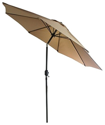 SNAIL 9 Foot WindProof Push Button Tilt Outdoor Patio Umbrella Pool Deck  Garden Table Shade Umbrellas