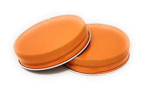 Mason Jar Lid - 12 pack - G70 CT (Orange) ()