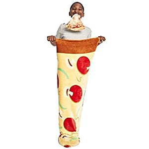 Warm & Snuggly Pizza Shaped Wearable Plush Blanket 22 x 52