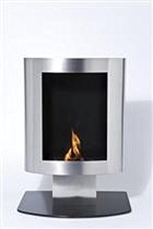 Chimenea bioetanol sin chimeneas cristal diseño rectangular en acero inoxidable: Amazon.es: Hogar