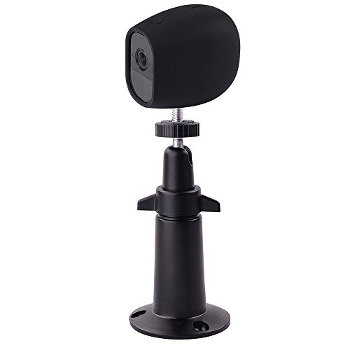 EEEKit Security Outdoor/Indoor Metal Wall Mount+Silicone Skins Protective Cover Case, 360 Degree Adjustable Ceiling Mount for Arlo Pro/Arlo Pro 2 Home Camera (1-Set Black) For Sale
