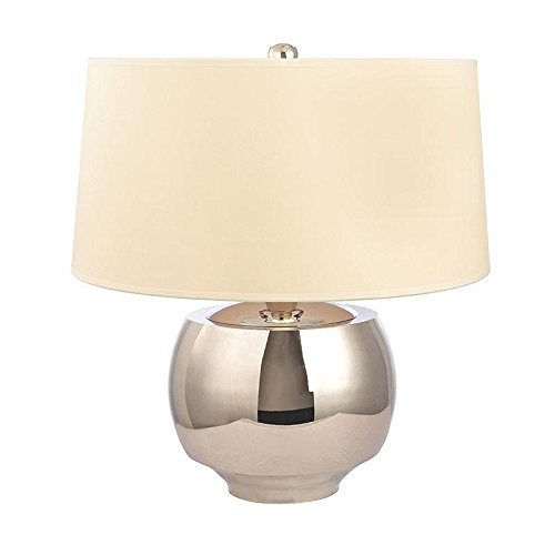 Holden 1-Light Table Lamp - Polished Nickel Finish with Cream Eco-Paper Shade -  Hudson Valley Lighting, L164-PN