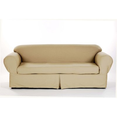 Brushed Twill Loveseat Slipcover Color: - Slipcover Twill Brushed Sofa