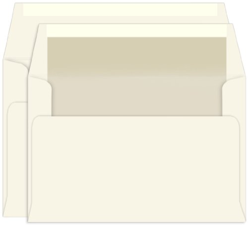 (Pearl Lined Inner Outer Envelopes, A9, A10 Ecru, 25 Pack )