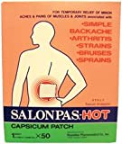 529479 Salonpas Capsicum Patch Hot 50 Per Box by Hisamitsu Corp -Part no. 529479