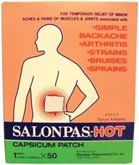 529479 Salonpas Capsicum Patch Hot 50 Per Box by Hisamitsu Corp -Part no. (Salonpas Hot Capsicum Patch)
