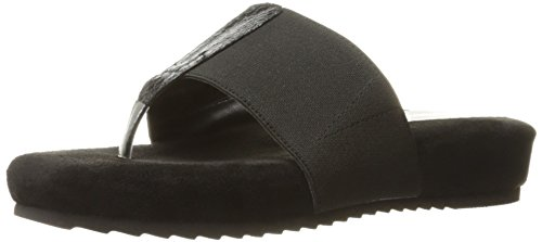 Annie Shoes Womens Jana Flip Flop Black