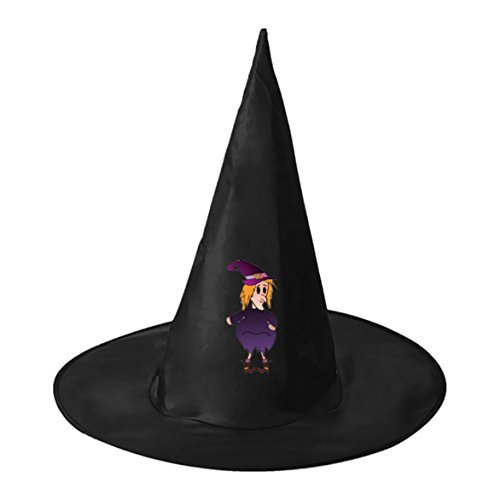 Fat Cute Witch Halloween Black Witch Hats Costume Party Carnivals Cosplay Accessory Cap Toys For Women Men and (Fat Bat Costume)