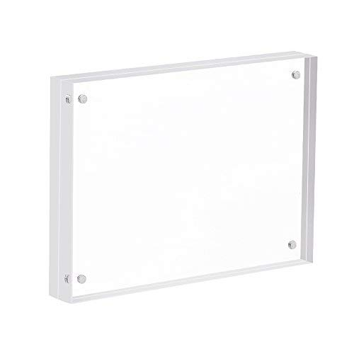 """Super Thick Desktop Frameless Double Sided Clear Magnetic Picture Display Extra Thick Blocks (5/""""W X 7/""""L) Extra Thick Blocks /(5/""""W X 7/""""L/) SUPERIORFE Premium Acrylic Magnet Photo Frame"""