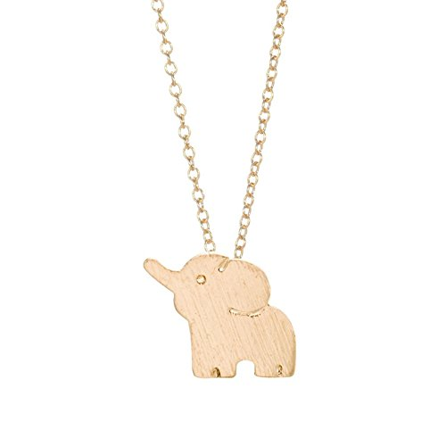 Zealmer Elephant Necklace Gold For Women Little Flying Elephant Elements Cute Good Luck Pendant Chain Photo #2