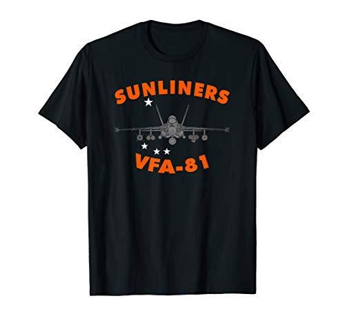 VFA-81 Sunliners Strike Fighter Squadron F-18 T-shirt