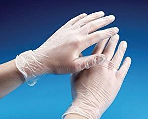 High Quality 100 Pack Vinyl Disposable Gloves LARGE Clear NON-POWDERED [ POWDER FREE VINYL GLOVES ] Gloves by REAL ACCESSORIES