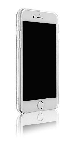 Spada 4052335032382 Liquid Glitter Hülle für Apple iPhone 6/6S/7/8 silber
