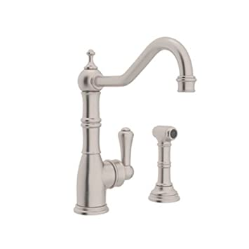 rohl u4746stn2 perrin and rowe single hole single lever aquitaine kitchen faucet - Rohl Faucets