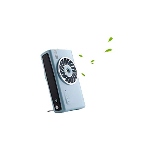 Battery Operated Cooling Fan Personal Camera Handheld Mist Spray Fan Humidifier Electric Portable USB Rechargeable Fans Outdoor,Blue