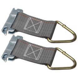 Steadymate Kinedyne Corporation 6600012PK 6 Series E-A Rope Tie-Off with 2 Webbing and 1027 D-Rin
