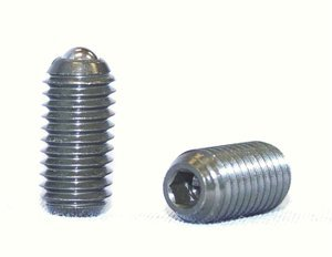 5/8''-11 x 1.250'' Force = 9.00 lb - 18.00 lb Stainless Steel Posi-Hex Ball Plunger