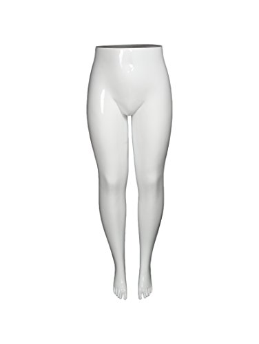 Newtech Display MAF-PL5-LEG/SWH Leg Mannequin, Plus Size, Shiny White by Newtech Display