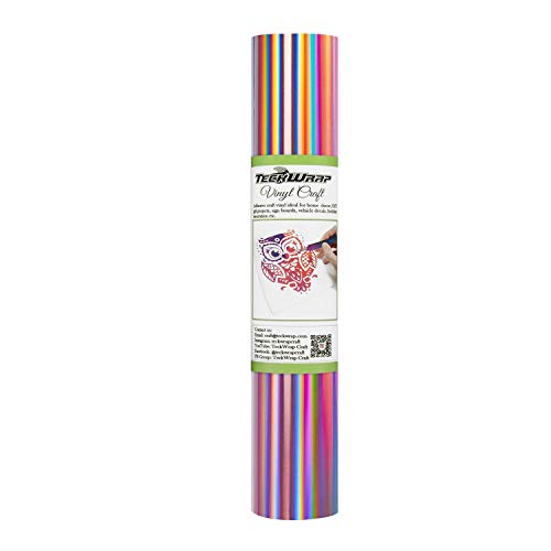 TECKWRAP Glossy Rainbow Holographic
