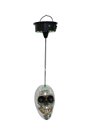 Lightahead Battery Operated Mirror Skull Disco Light with Sound Sensor for DJ Party Halloween Decorations by Lightahead