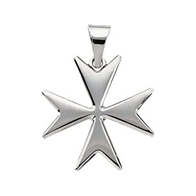 14ct white gold maltese cross pendant 18mm amazon jewellery 14ct white gold maltese cross pendant 18mm mozeypictures