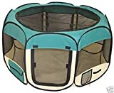 Pet Travel, Indoor or Outdoor Dog Cat Puppies Kitten Play Yard *Teal* *Small* Review