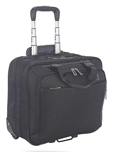 Nylon Twill Laptop Carrying Rolling Case for Laptop Up to 15.6'', Black by Eco Style (Image #1)