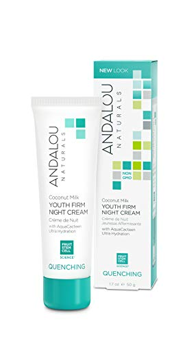 Andalou Naturals Coconut Milk Youth Firm Night Cream, 1.7 Ounce Rich Nighttime Moisturizer for Face and Neck