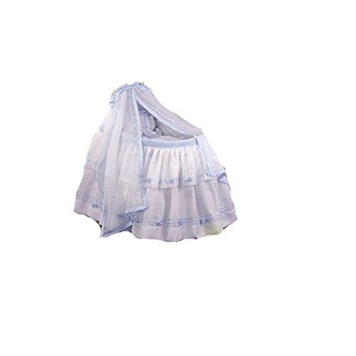 BabyDoll Baby Regal Liner/Skirt & Hood with Blue Trim, 15'' x 30''