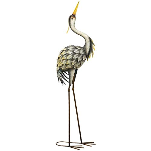 Regal Art & Gift Grey 12 inches x 7.25 inches x 41.25 inches Metal Heron Facing Up - Large Bird Statuary