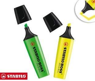 Subrayadores Stabilo Boss (pack de 2 piezas en surtidos colores) B ...