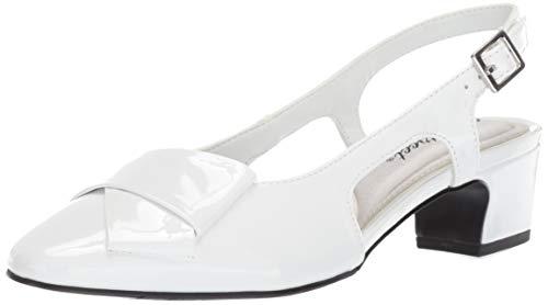 (Easy Street Women's Breanna Slingback Dress Pump, White Patent 8 M US)