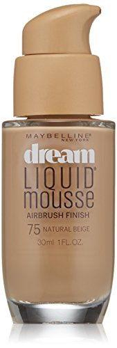 Maybelline New York Dream Liquid Mousse Foundation, Natural Beige, 1 fl. oz.(Packaging May Vary)