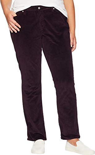 Levi's Women's Plus-Size 414 Classic Straight Jean's, Soft cali Plum Cord, 44 (US 24) R