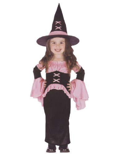 Pretty Pink Witch Costume - Toddler Small (2)