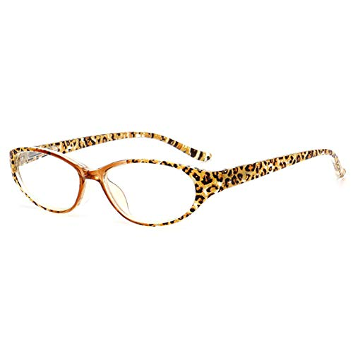 hembra y bisagras 2 3 Leopardo con de 5 resina lectura Macho gafas lentes 1 5 de de Inlefen primavera 2 5 3 ovales 1 0 0 0 wYp5xAE5q